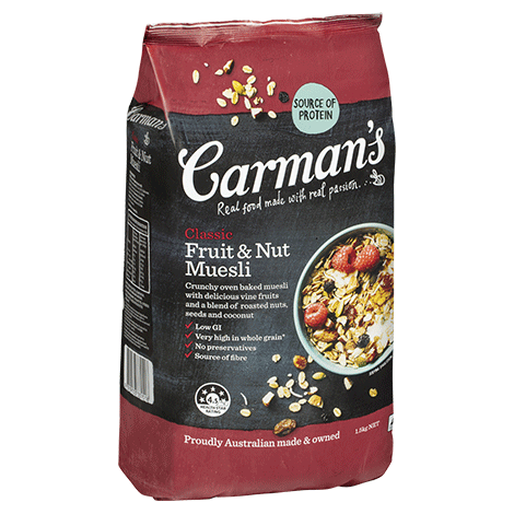 carmans classic fruit muesli