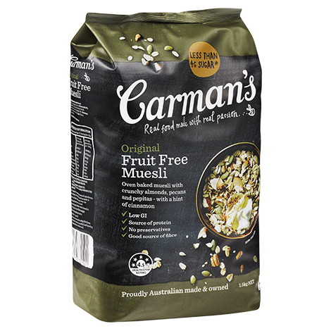 carman's fruit free muesli 1470