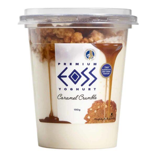 caramel crumble yoghurt 190g