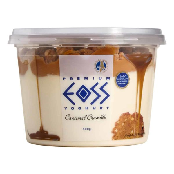caramel crumble yoghurt 500g